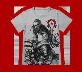魔兽手绘风战斗T恤