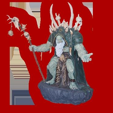 魔兽1:1古尔丹雕像
